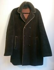 Vintage Brown Teddy Shearling Borg Coat Oversized Approx 14 16 18 20 Chest 48""