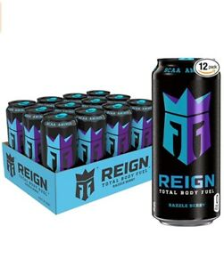 Reign Total Body Fuel Razzle Berry Fitness & Performance Drink 16 Oz (Pack of 12