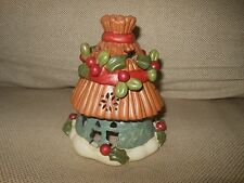 Christmas Candle Jar Lamp Shade Topper HOLLY Berry