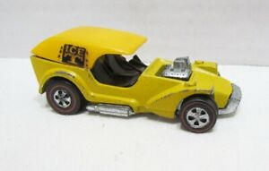 HOT WHEELS REDLINE 1969 ICE T DIE-CAST CAR MATTEL VINTAGE YELLOW CLEAN W/ ROOF