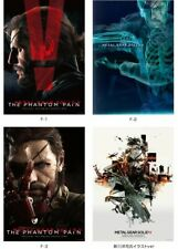 METAL GEAR SOLID V THE PHANTOM PAIN HAPPY KUJI COMPLETE POSTER SET OF 4