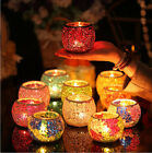 Romantic Mosaic Glass Candle Holders Tealight Votive Holder Wedding Decoration