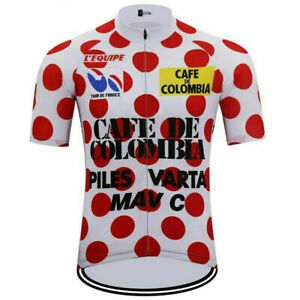Cafe de Colombia 85s Cycling Jersey mens team cycling Short Sleeve jersey
