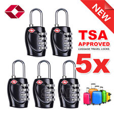 5x TSA Combination Approved 4 Dial Luggage Suitcase Security Padlock Travel Lock