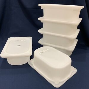 New 6 SETS Box & LID. IKEA Trofast WHITE Storage Bin Box Medium Toys Books