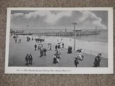 The Boardwalk & Fishing Pier, -Ashbury Park, New Jersey, Unused vintage card