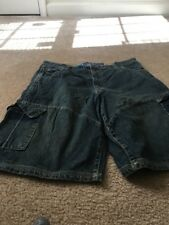 PHYS.SCi. Denim Solutions Men's Cargo Blue Denim Jean Shorts Sz 36 Clothes