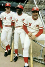 Big Red Machine At The Batting Cages Pete Rose Johnny Bench Classic Joe Morgan