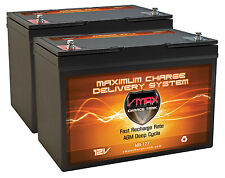 QTY 2 MB127 COMMERCIAL KENT RAZOR E17 SV17 SCRUBBER 12V AGM 100AH VMAX BATTERY