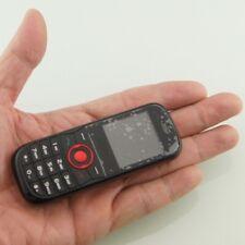 Smallest Tiny Mini Black 2 Sim Card Cell Mobile Phone & MP3 FM Radio Camera