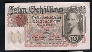 10 Schilling From Austria 1946 Fine