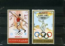 FUJEIRA 1972 Mi#882,B882A SUMMER OLYMPIC GAMES MUNICH SET OF 2 STAMPS MNH