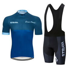 Men Cycling Jersey Set short sleeve bike tops bib shorts Kit summer bicycle Wear