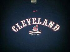 Cleveland Indians Nike Baseball Sports Apparel Tshirt Clothing Large Navy Blue