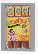 2017 Wacky Packages 50th Anniversary silver parallel Katy Perry Fireworks 40/50