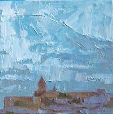 Ararat mountains Khor Virap by Armenian artist Batmanyan Original oil Painting