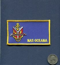Name Tag NAS Naval Air Station OCEANA VA US NAVY Base Squadron Patch