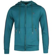 True Religion Contrast Taped Teal Hoodie
