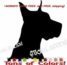 Great Dane Giant Dog Vinyl Decal Sticker for Car Window Laptop Crate Bowl USA