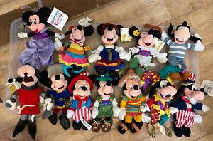 "Disney Store Disney 9"" Beanie Bundle - Mickey Mouse, Minnie Mouse + Goofy"