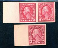 USAstamps Unused FVF US Washington Imperf Scott 482, 577 OG MNH