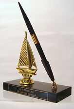 METAL  SAILBOAT PEN SET TROPHY BOAT SAILBOAT TROPHY TROPHIES TOP TOPPER PARTS @@