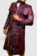 Guardians of the Galaxy Vol 2 Star Lord Chris Pratt Maroon Trench Coat Jacket