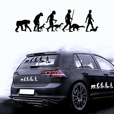 Car Sticker Car Foil Sticker for the Car Evolution Dog Dachshund