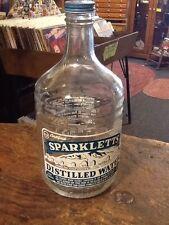 Vintage Sparkletts Water Bottle Glass 1/2 Gallon Distilled