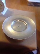 """Aluminum Cake Display Riser 14.5"""" diameter Footed Serving Platter"""