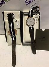 Daniel Wellington Ladies 36mm Glasgow Two-tone Nylon Watch 0552DW NEW $229.00