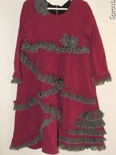 ISOBELLA & CHLOE and sz 6 dress purple gray plum EUC GORGEOUS!!