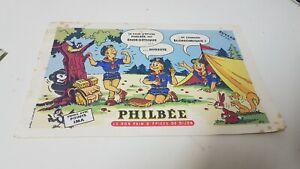 Ancien buvard publicitaire PHILBEE PAIN D'EPICES DE DIJON