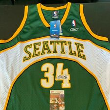 Ray Allen Signed Authentic Reebok Seattle Supersonics Sonics NBA Jersey JSA COA