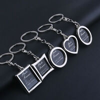 1X Chic Transparent Clear Insert Photo Picture Frame Key Ring  Chain Keychain