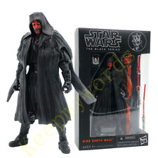"Star Wars The Black Series Sith Warrior Darth Maul 6"" Action Figure Lightsaber"
