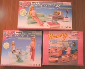 Combo DOLLHOUSE FURNITURE Nursery(9409)+Dining(2811)+Living(2804)