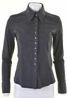 CALVIN KLEIN Womens Shirt Size 18 XL Black Cotton Slim Fit  Z212