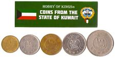5 Kuwaiti Coin Lot. Differ Collectible Coins From Middle East. Foreign Currency