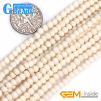 Bone Rondelle Donuts & Heishi Spacer Loose Beads for Jewelry Making Wholesale