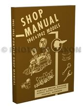 1941-1942 Pontiac Shop Manual Repair Torpedo Streamliner base book for 1946-1948