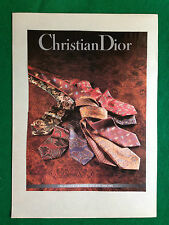 PCA142 Pubblicità Advertising Werbung Clipping 1992 CHRISTIAN DIOR CRAVATTE