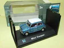 AUSTIN MINI COOPER Bleu & Toit Blanc  CARARAMA