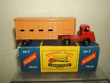 "MATCHBOX MAJOR  MODEL No.M-7   ""THAMES ""TRADER CATTLE TRUCK    MIB"