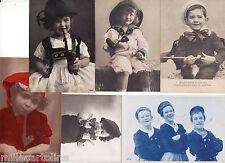 #FUMO:BAMBINI CHE FUMANO LA PIPA-6 CARTOLINE 1900-1920