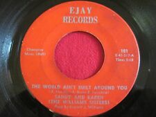 RARE PRIVATE COUNTRY 45 - SANDY & KAREN - THE WORLD AIN'T BUILT - EJAY 101