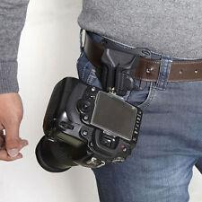 Safe Camera Waist Belt Buckle Straps Hanging Clip Holder Strong Holster SLR DSLR