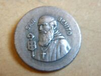 ANTIQUE METAL MEDAL ST BENITO BENEDICT ABAD