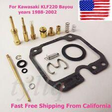 new For Kawasaki KLF220 Bayou 1988-2002 Carb Rebuild Kit Repair KLF 220