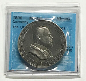 1890 Germany Silver Medal Victoria - VF20 #6910